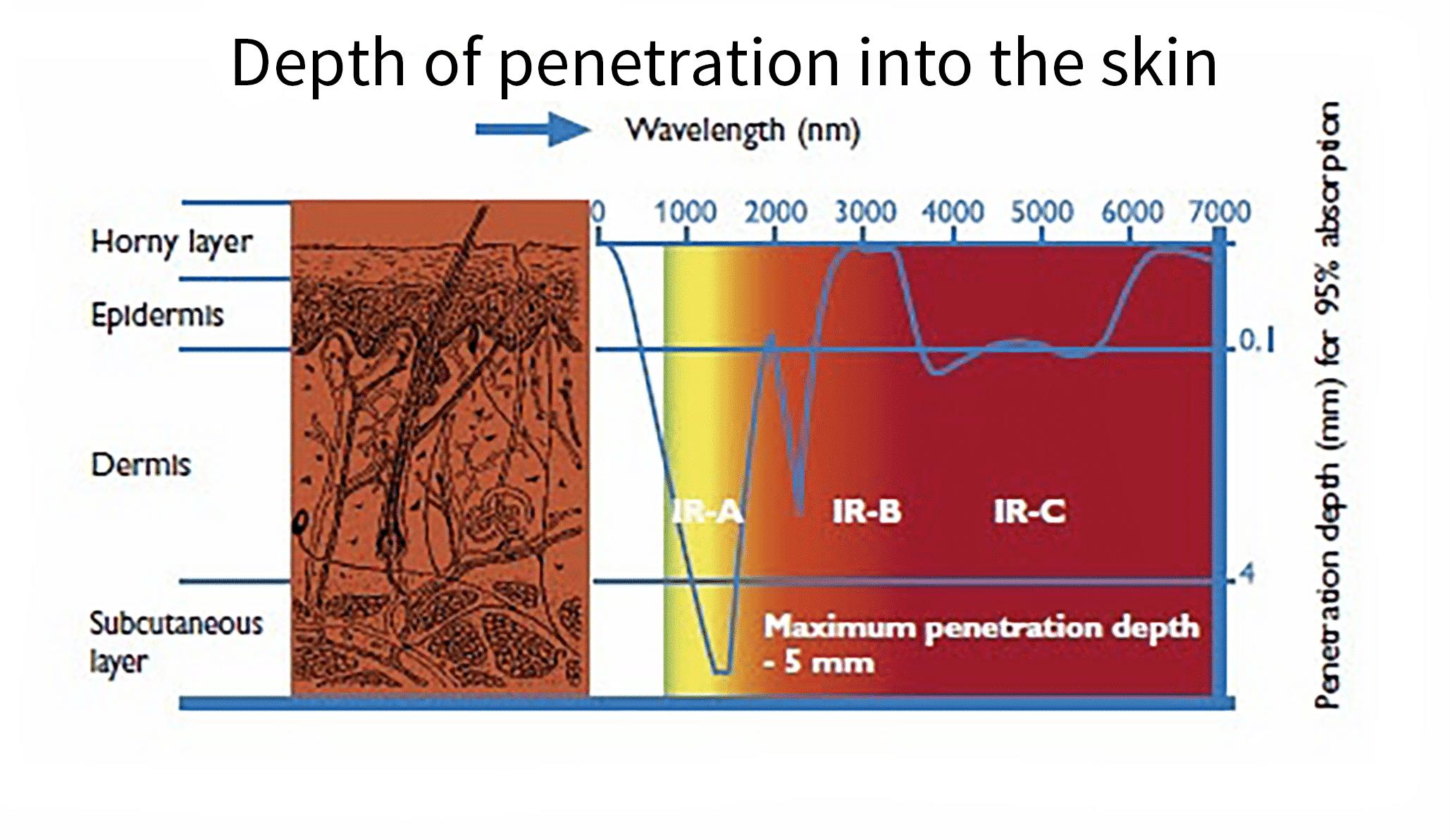 infraröd hud penetration